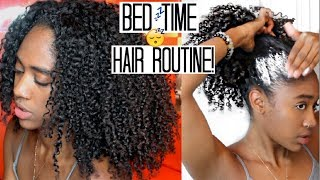 Nighttime Hair Routine|+Growth Tip for Long + Healthy Natural Hair 🙌