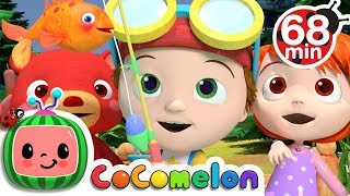 12345 Once I Caught a Fish Alive | + More Nursery Rhymes & Kids Songs - ABCkidTV