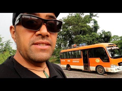 CRAZY LAOS BUS RIDE ADVENTURE - Phonsavan to Pakse Laos