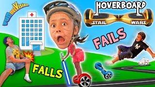 Little Granny Lightsaber! HOVERBOARD Family Fails & Falls! (Star Wars FUNnel Vision Vlog)
