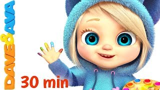 😂Best Nursery Rhymes & Baby Songs in 30 min Collection from Dave and Ava 😂