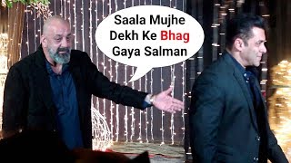 Salman Khan IGNORES Drunk Sanjay Dutt At Priyanka Nick Mumbai Reception