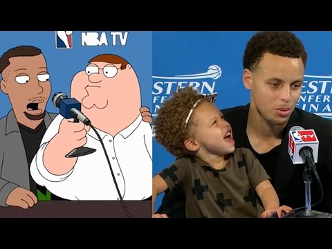 Steph Curry Stars on Family Guy Recreates HILARIOUS Riley Curry Press Conference with Peter Griffin