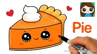How to Draw a Slice of Pie Cute and Easy