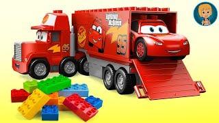 Gertit Build LEGO Juniors Cars 3 Lightning McQueen Mac Truck and Speed Launcher Toy Set