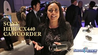 CES 2015 | Sony Handycam HDR-CX440 HD Camcorder | WiFi | CX440/B | SmartReview.com