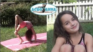 My Made Up Routine   Annie the Gymnast   Acroanna