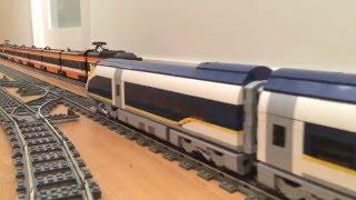 LEGO Eurostar e320 high speed train crash derailment