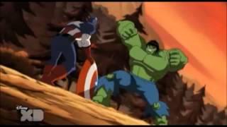 Red Hulk and Avengers vs Hulk