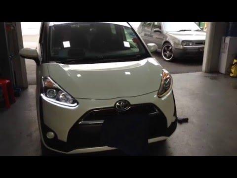 Toyota Sieta headlight retrofit
