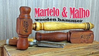 Martelo de Madeira e Porrete Para Formão (Malho para Cinzel) (chisel wooden hammer)