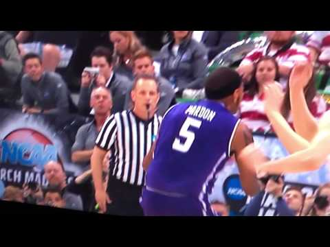 Northwestern Basketball Missed Call by Refs Basket Interference Goal Tending by Gonzaga