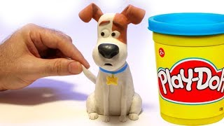 Max from The secret life of pets movie Stop motion play doh clay cartoon