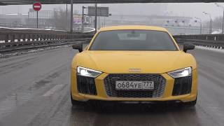 DT_LIVE. Зимой на 610 л.с. Audi R8 и 1000+ л.с. Audi R8 от GoshaTurboTech