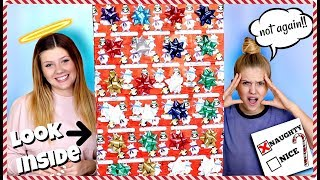 We Made Slime Using an Advent Calendar | Holiday Challenge | Taylor and Vanessa