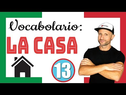 ITALIAN VOCABULARY THE HOUSE Italian Listening & Comprehension Excercise Video in slow Italian