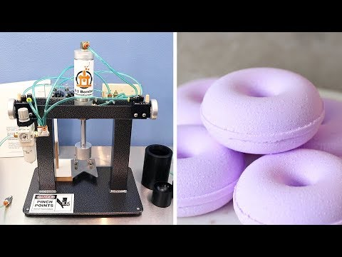 Our New B 3 Bomber Bath Bomb Machine Unboxing & Testing MO River Soap