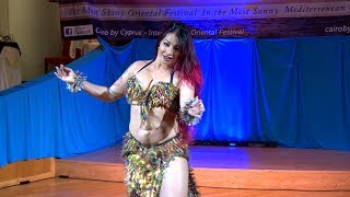 Ebru Bekker Belly Dancer Drum Solo - 6th Cairo by Cyprus Festival 2018