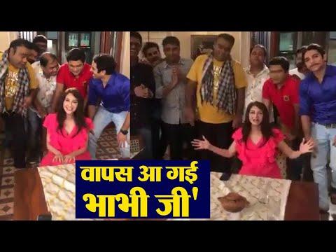 Xxx Mp4 Bhabi Ji Ghar Par Hain Saumya Tandon Returns To Set After Delivery FilmiBeat 3gp Sex