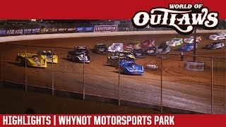 World of Outlaws Craftsman Late Models Whynot Motorsports Park March 24, 2017 | HIGHLIGHTS
