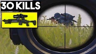 FULL AUTO MK14 + 8x SCOPE OP? | 30 KILLS Duo vs SQUADS | PUBG Mobile