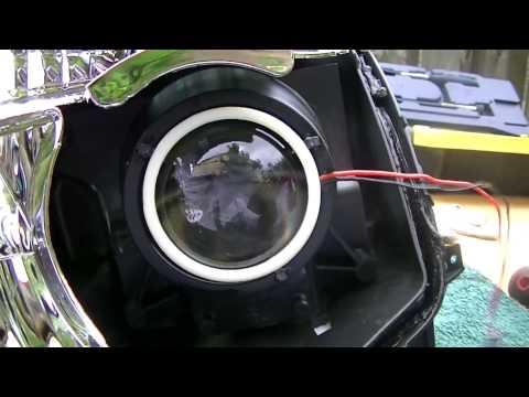 DIY 07 08 Nissan Maxima Aftermarket Headlights COB Halo Install