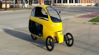 The Ego velomobile electric hybrid enclosed tricycle