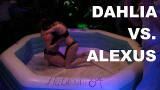 Crowd Makes It Rain Cash On Wet Girls! | Dahlia Vs. Alexus  | Oil Wrestling | Season 2 | Night 8