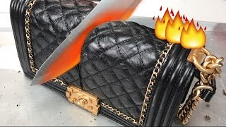Glowing 1000 DEGREE KNIFE VS. CHANEL BAG + MAKEUP