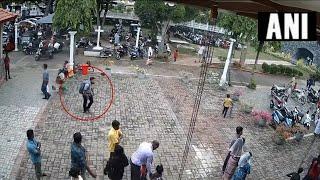 Sri Lanka: CCTV footage of suspected bomber entering church before blast