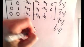 Inverse Matrix Using Gauss-Jordan / Row Reduction , Example 2