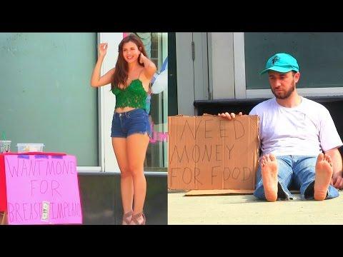 Xxx Mp4 Hot Girl VS Homeless Man Social Experiment 3gp Sex