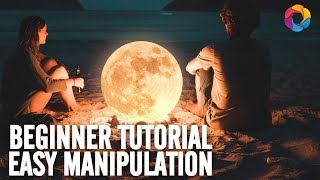 Beginner Manipulation with 2 images - At the moon's light