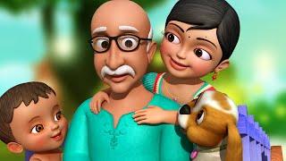தாத்தா தாத்தா தை   Tamil Rhymes for Children   Grandpa Song   Infobells