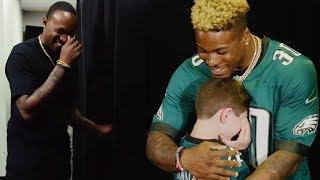 Alshon Jeffery & Corey Clement Surprise Eagles Fans at NFL Draft Party