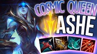 AMAZING NEW COSMIC QUEEN ASHE SKIN?! - PBE Ashe ADC - League of Legends