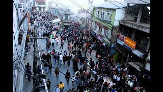 No Vehicle Day in Aizawl Christmas Bazar 2017
