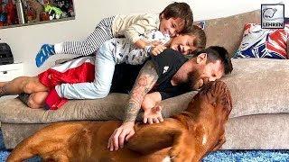 Lionel Messi Enjoys Down Time With His Kids Thiago & Mateo & Pet Hulk