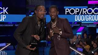 Migos Wins Favorite Duo or Group - Pop/Rock Award - AMAs 2018