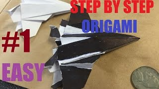 How to make a Origami Fighter Jet Plane Time Lapse Dollar
