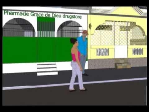 Fanm mache ak tout bwat pwoblèm yo Haitian cartoon tikomik Kreyol MAPE