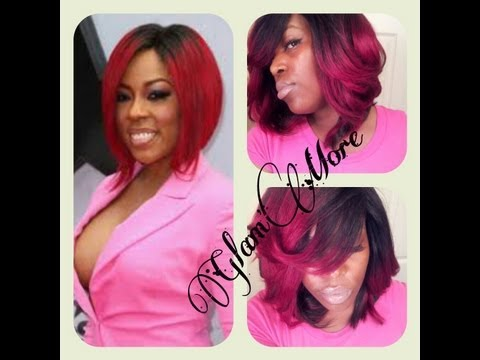 K. Michelle Inspired Red Ombre Quickweave