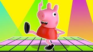 Pepa Pig Dance Kids Cartoon & Nursery Rhymes Lyrics | Pipa Pig Video