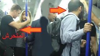 اخلاق شاب مسلم يدافع على فتاة أجنبية يثير إنبهار الركاب