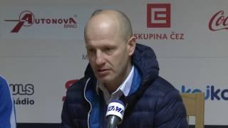 Trenéři Petr Haken a Jiří Hanzlík po utkání Kometa - Plzeň 2:3pp (29. 1. 2017)