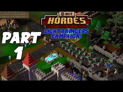8-Bit Hordes Walkthrough: Part 1 - 3 Star Lightbringers Campaign! - PC Gameplay Playthrough 60fps