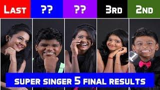SUPER SINGER Junior 5 Final Winner - Prithika, Runner up- Bavin