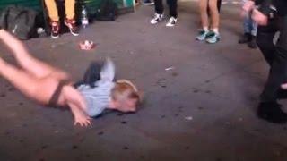 Drunk GIRL dancing in London