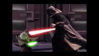 Star Wars: Revenge of the Sith soundtrack- Anakin vs. Obi Wan/Yoda confronts Sidious