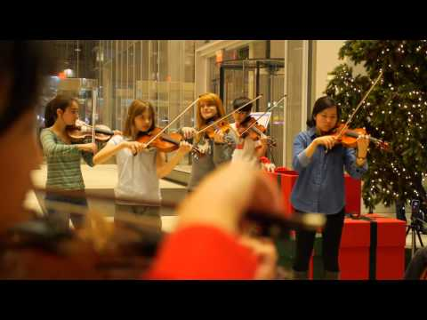Flash Mob at the Bank of America Tower CMC NY Chamber Music at Its Best